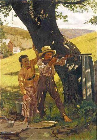 «Клод Моне, работающий на опушке леса», Джон Сингер Сарджент — описание картины