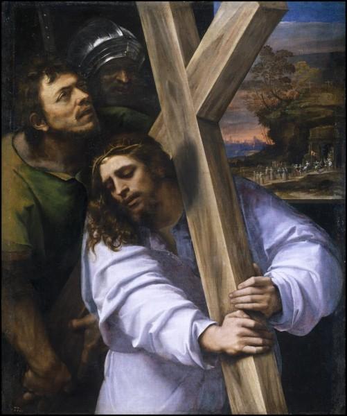 «Несение креста», Себастьяно дель Пьомбо — описание картины