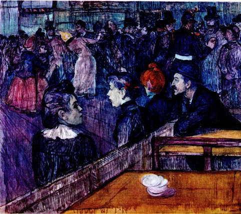 Мадемуазель Дио за фортепиано, Тулуз-Лотрек, 1890
