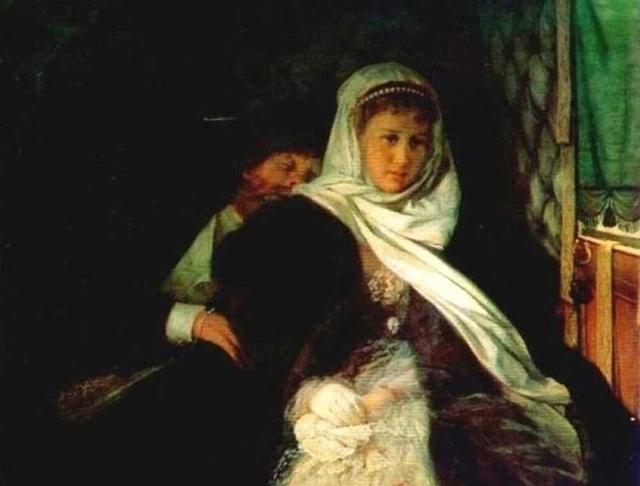 Перед венцом, Ф. С. Журавлев, 1874