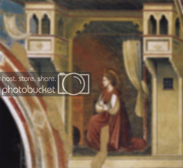 Благовещение, Джорджо Вазари - анализ картины