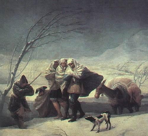 Зонтик, Франсиско де Гойя - описание картины