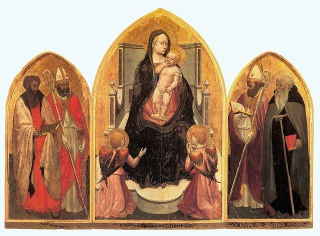 «Мадонна с младенцем», Мазаччо — описание картины