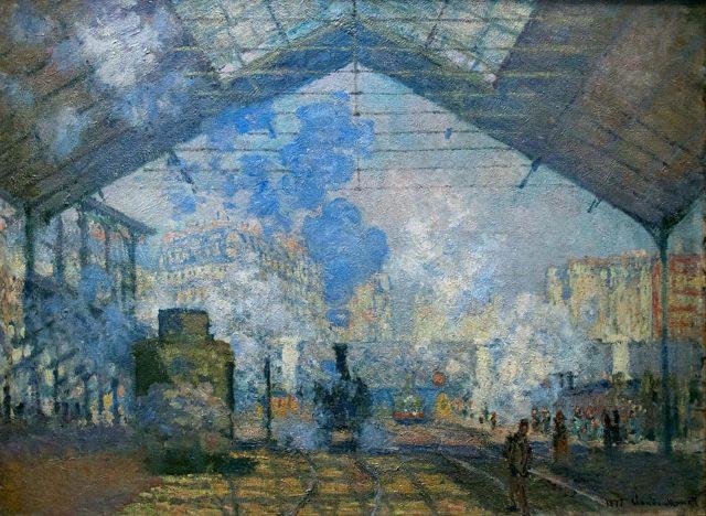 Вокзал Сен-Лазар, Клод Моне, 1877