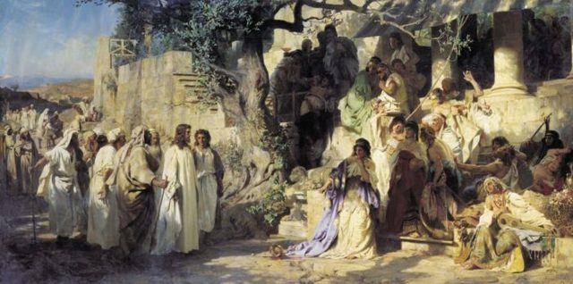 «Танец среди мечей», Генрих Ипполитович Семирадский — описание картины