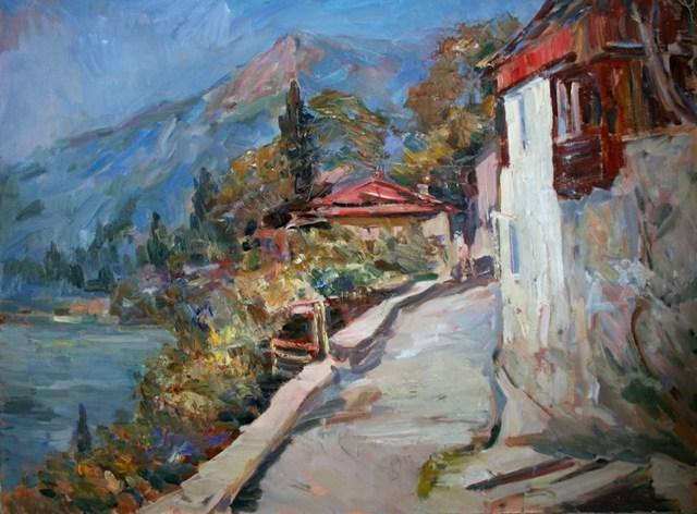 «Пристань в Гурзуфе», Константин Коровин — описание картины