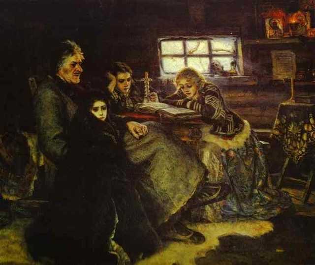 Картина «Меншиков в Берёзове», Василий Иванович Суриков — описание