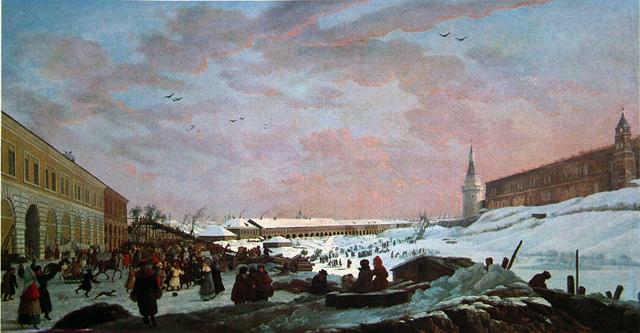 Большой маскарад в 1722 году на улицах Москвы с участием Петра i и князя-кесаря И. Ф. Ромодановского, Василий Иванович Суриков