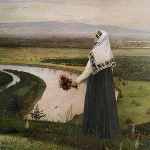 «Великий постриг», Нестеров — описание картины