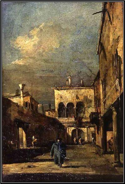 Мол, набережная Скьявони и лагуна у Сан-Марко, Франческо Гварди