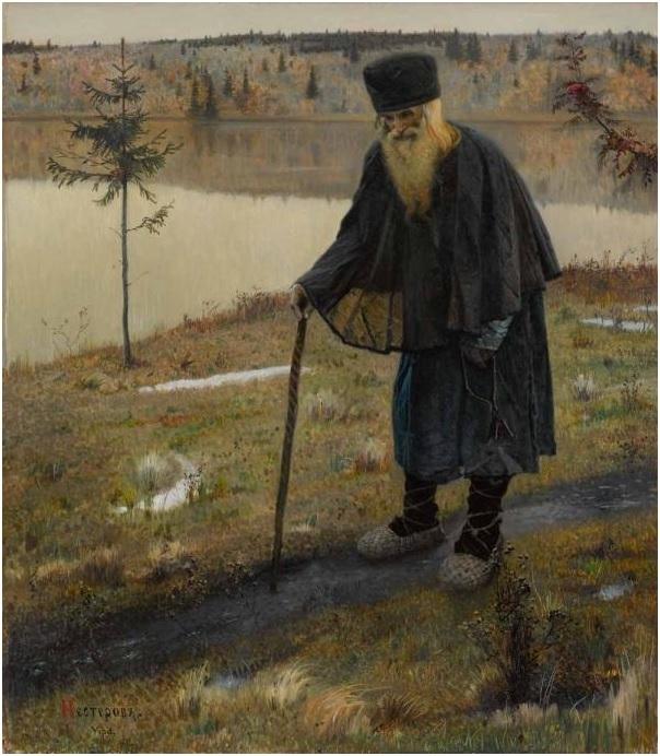 «Преподобный Сергий Радонежский», Нестеров — описание картины