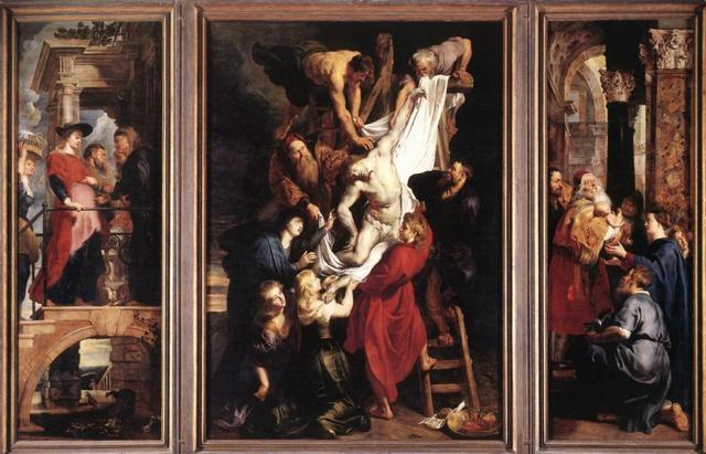 Четыре философа, Питер Пауль Рубенс - описание картины