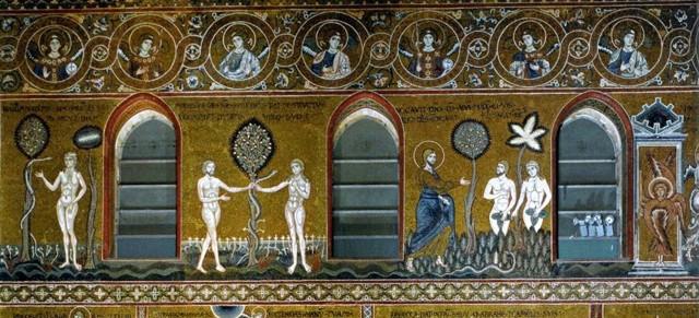 «Изгнание из рая», Мазаччо, фреска