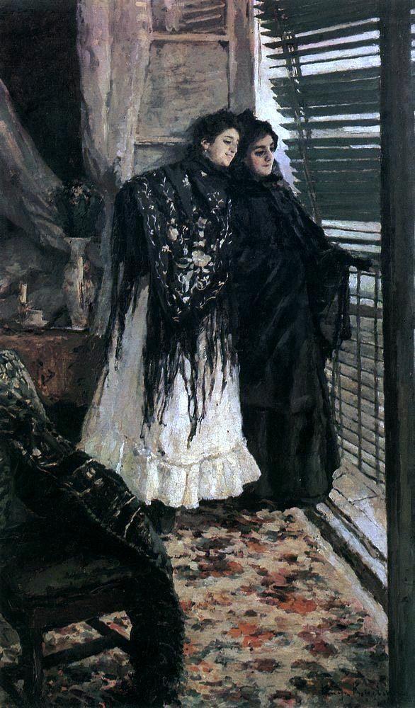 «За чайным столом», Константин Коровин — описание картины