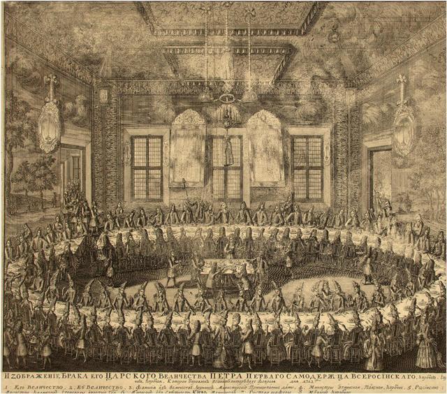 Свадьба Петра i и Екатерины i 19 февраля, А. Ф. Зубов, 1712