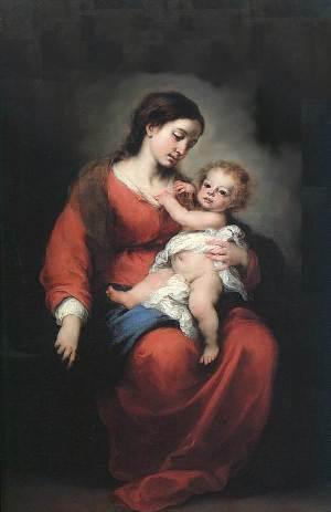 Мадонна с Младенцем, Бартоломео Эстебан Мурильо