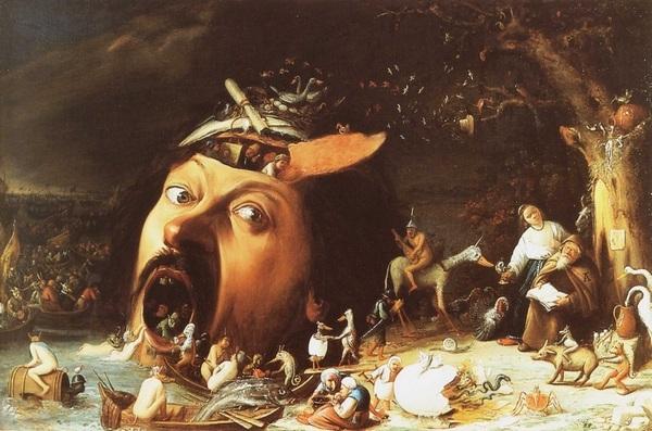 «Искушение святого Антония», Маттиас Грюневальд — описание картины