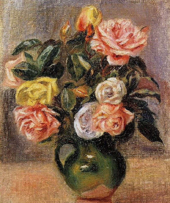 Розы в творчестве Ренуара