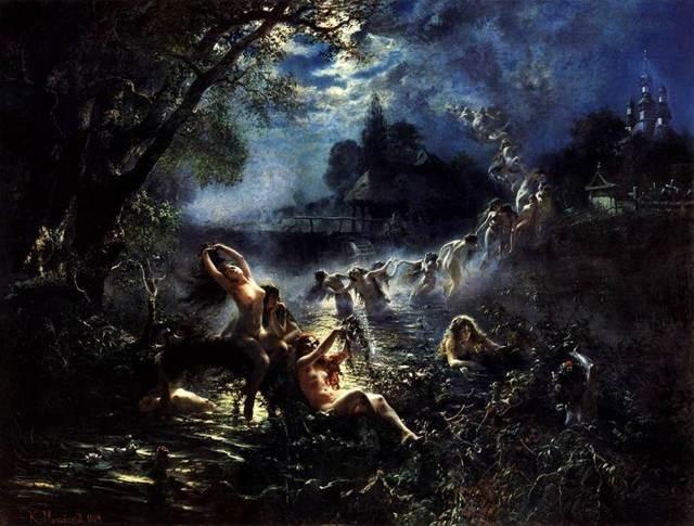 Русалки, Маковский - описание картины