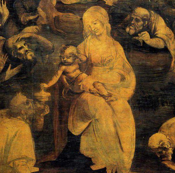 Поклонение волхвов, Леонардо Да Винчи