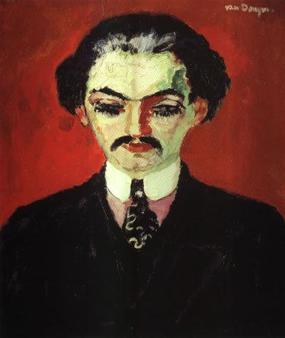 Портрет Даниэля Анри Канвейлера, Пикассо, 1910