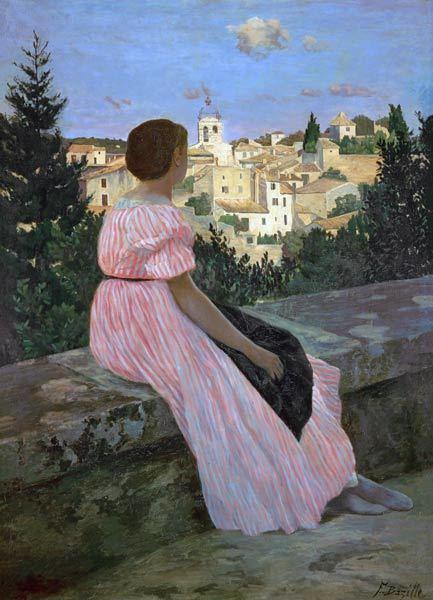 «Розовое платье», Фредерик Базиль — описание картины