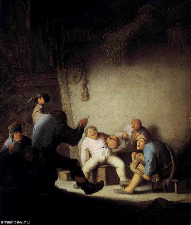 Описание картины Деревенский концерт, Адриан ван Остаде