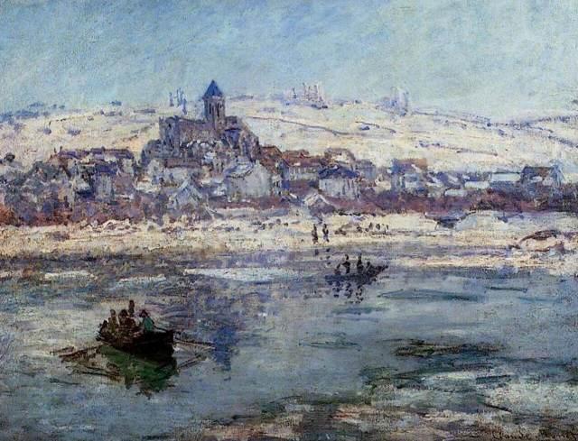 Берег Сены. Ветёй, Клод Моне, 1880
