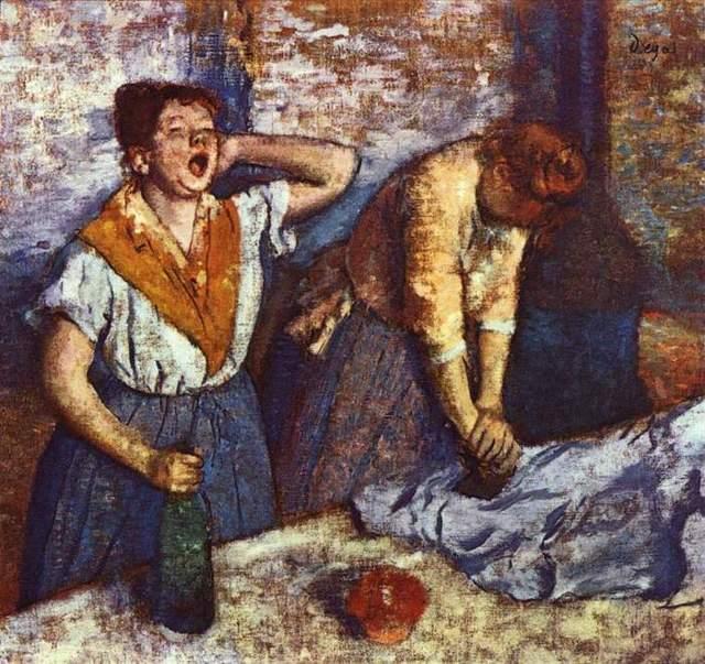 Гладильщицы, Эдгар Дега