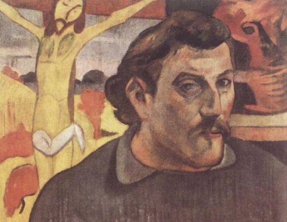 Автопортрет с желтым Христом, Поль Гоген, 1890