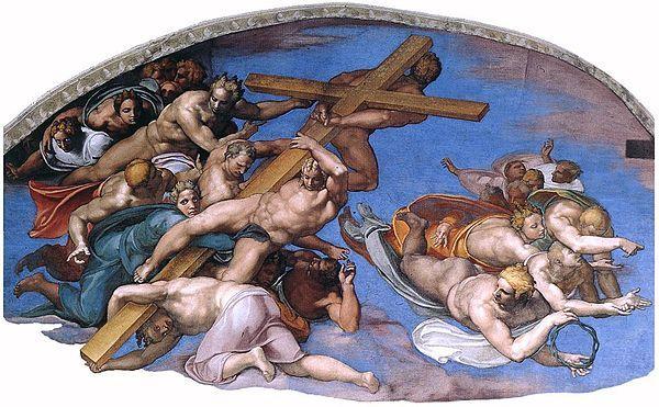 Страшный суд. Фрагмент, Микеланджело Буонарроти