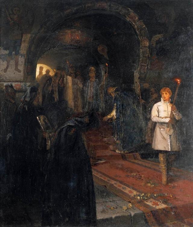 «Девушка в кокошнике. Портрет М. И. Нестеровой», Нестеров — описание