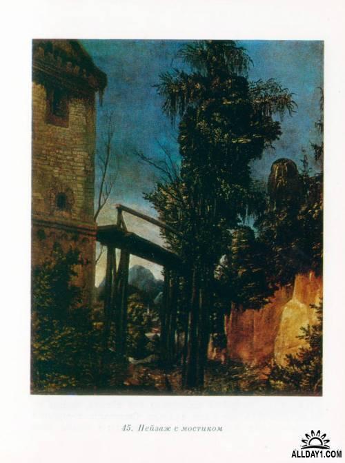 «Пейзаж с мостиком», Альбрехт Альтдорфер — описание картины