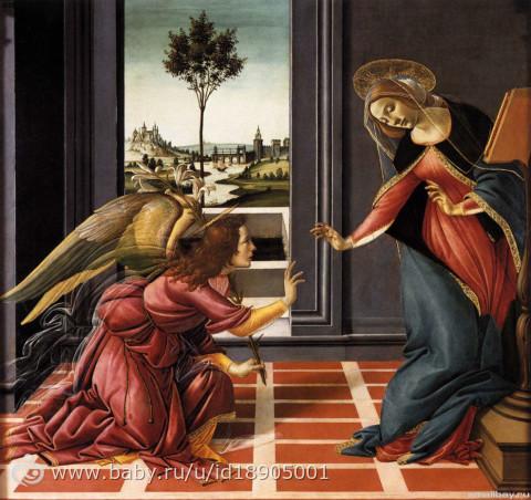 «Благовещение Честелло», Сандро Боттичелли — описание картины