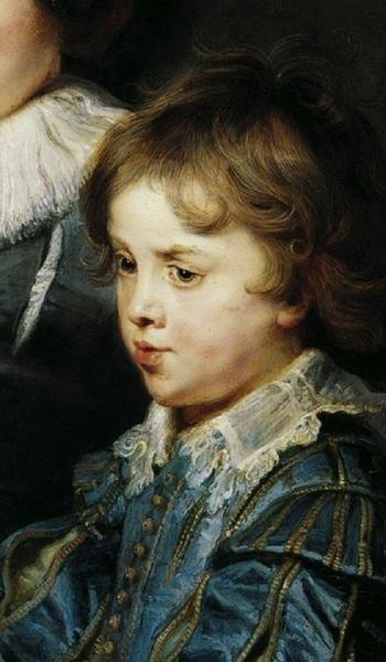 Портрет Елены Фоурмен с двумя детьми, Рубенс, около 1636