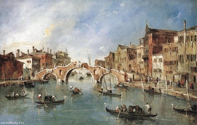 «Архитектурная фантазия», Франческо Гварди — описание картины
