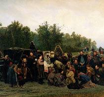 «Тёмные люди», Константин Аполлонович Савицкий — описание картины