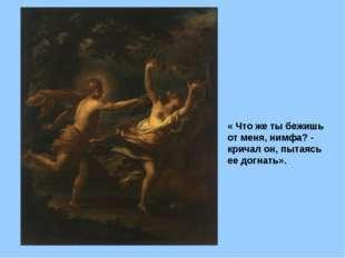 «Аполлон, преследующий Дафну», Тьеполо — описание картины