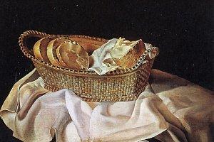 Корзинка с хлебом, Дали, 1945