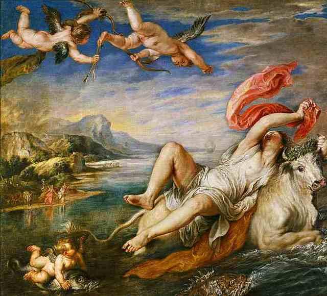 Картина Венера и Адонис, Тициан, около 1553