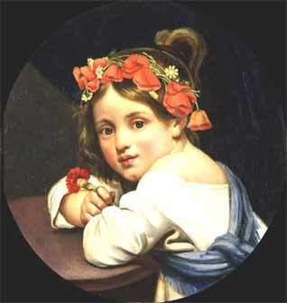 «Девочка в маковом венке с гвоздикой в руке», Кипренский — описание картины