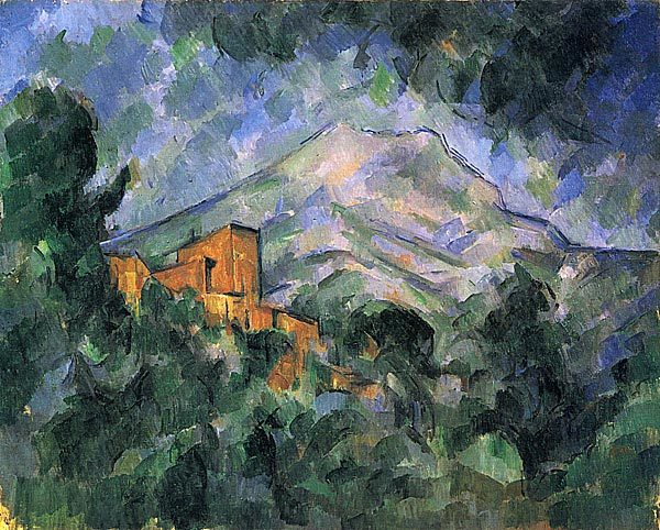 Пейзаж в Эксе (Гора Святой Виктории), Поль Сезанн, 1905