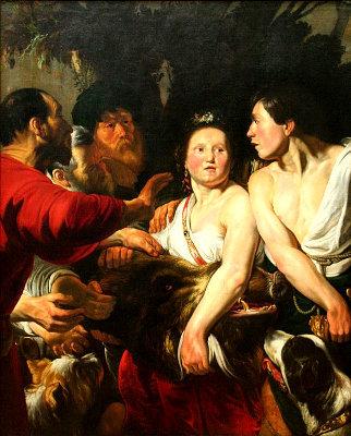 «Мелеагр и Аталанта», Якоб Йорданс — описание картины