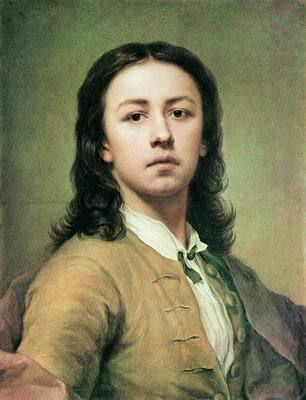 Автопортрет в красном плаще, Антон Рафаэль Менгс — описание