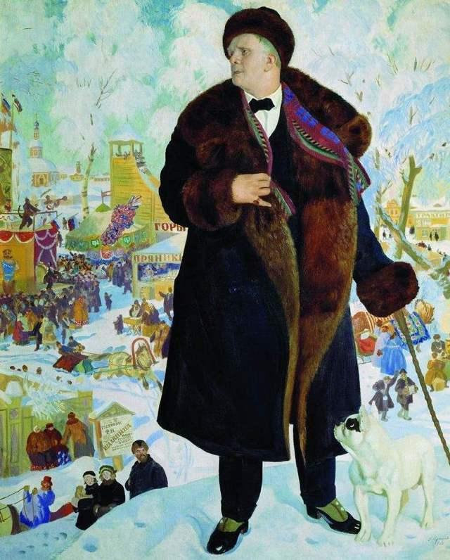 Портрет Шаляпина, 1922, Кустодиев - описание картины