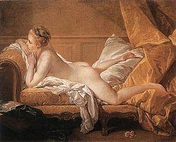 «Отдыхающая девушка», Франсуа Буше — описание картины