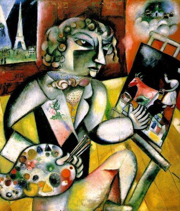 Автопортрет с семью пальцами, Марк Шагал