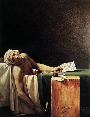 Смерть Марата, Жак Луи Давид - описание картины