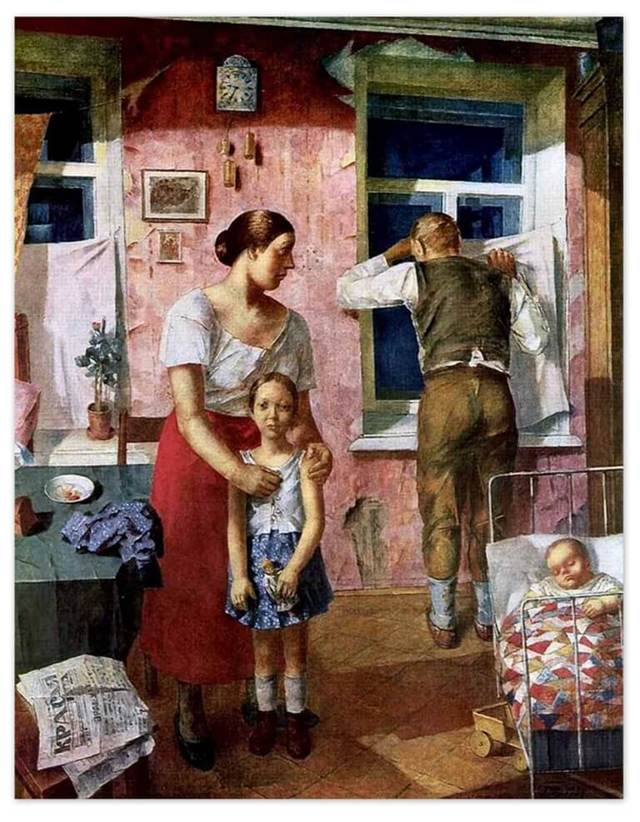 Весна, Петров-Водкин - описание картины
