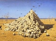 Нападают врасплох, Василий Васильевич Верещагин - описание картины